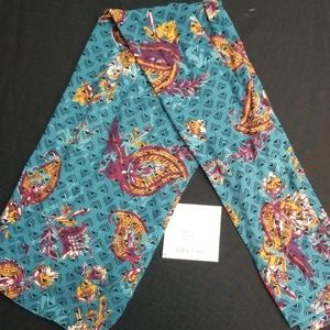 Teal Paisley Lularoe TC leggings NWT